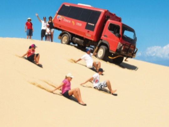 At Port Stephens 4WD Tours we offer unlimited sandboarding and complimentary water, so prepare yourself for a fun filled trip for all ages.